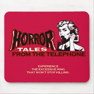 Horror Tales From The Telephone Retro Movie Ad Mouse Pad