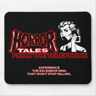 Horror Tales From The Telephone Retro Movie Ad Mouse Pads