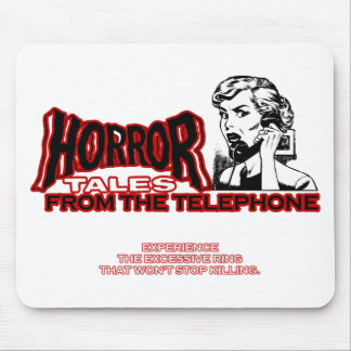 Horror Tales From The Telephone Retro Movie Ad Mousepad