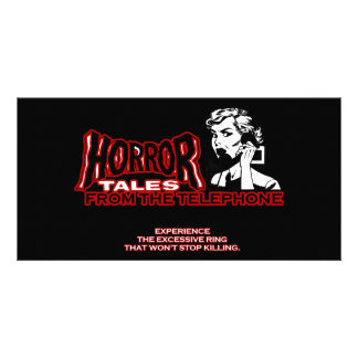 Horror Tales From The Telephone Retro Movie Ad Photo Card Template