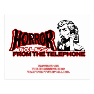 Horror Tales From The Telephone Retro Movie Ad Postcard