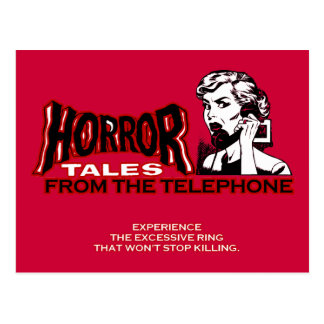 Horror Tales From The Telephone Retro Movie Ad Post Card