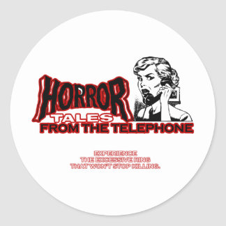 Horror Tales From The Telephone Retro Movie Ad Sticker