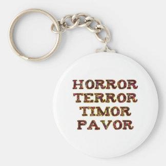 horror terror timor pavor keychain