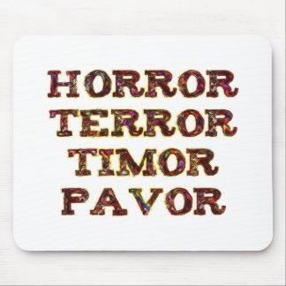 horror terror timor pavor tapetes de ratón