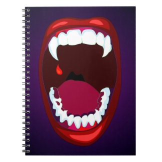 Horror Vampire Monster Teeth Poster Style Art Notebook
