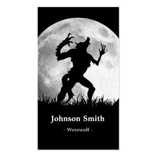 Horror Werewolf Full Moon Transformation - Cool Business Card