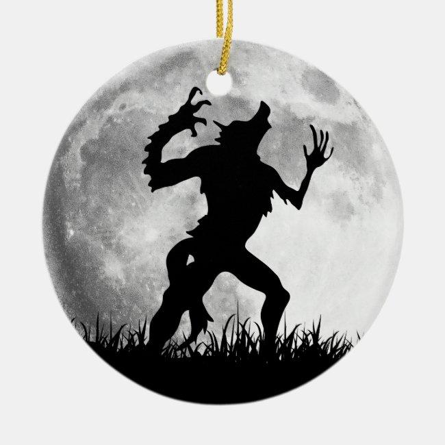 Horror Werewolf Full Moon Transformation - Cool Ceramic Ornament