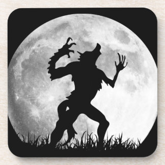 Horror Werewolf Full Moon Transformation - Cool Beverage Coasters