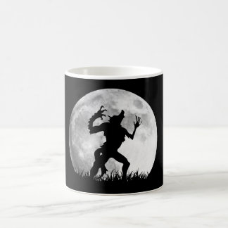 Horror Werewolf Full Moon Transformation - Cool Classic White Coffee Mug
