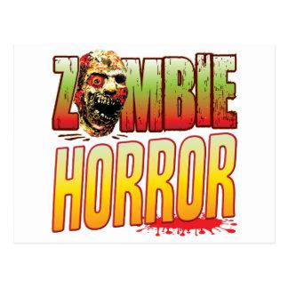 Horror Zombie Head Postcard