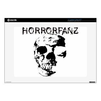 "Horrorfanz Logo Decals For 15"" Laptops"