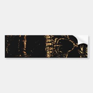 Horrorstuff Golden Skull Bumper Sticker