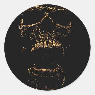 Horrorstuff Golden Skull Classic Round Sticker