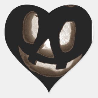 Horrorstuff Halloween Pumpkin II Heart Sticker