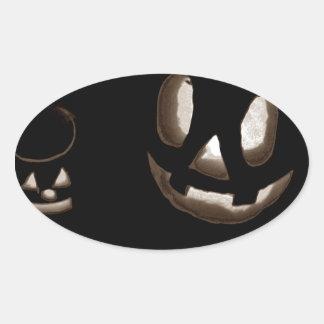 Horrorstuff Halloween Pumpkin II Oval Sticker