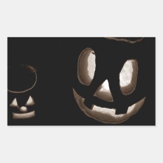 Horrorstuff Halloween Pumpkin II Rectangular Sticker