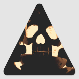 Horrorstuff Halloween Pumpkin Triangle Sticker