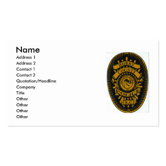 horry county police, Name, Address 1, Address 2... Double-Sided Standard Business Cards (Pack Of 100)