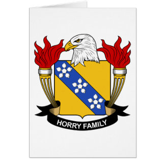 Horry Family Crest Card