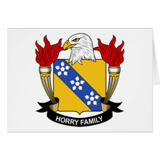 Horry Family Crest Greeting Card