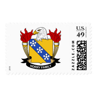 Horry Family Crest Postage Stamps