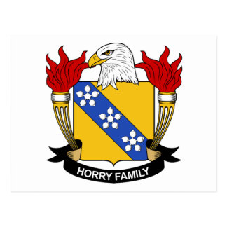 Horry Family Crest Postcards