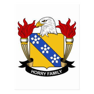 Horry Family Crest Postcard