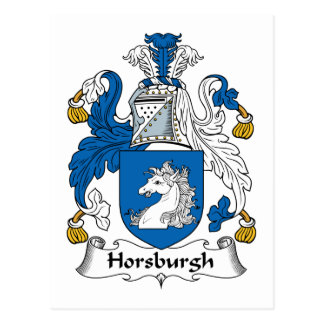 Horsburgh Family Crest Postcard