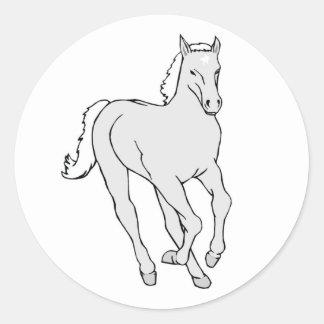 HORSE2 CLASSIC ROUND STICKER