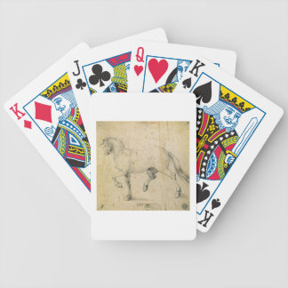 Horse, 1503 (pen and ink on paper) bicycle playing cards