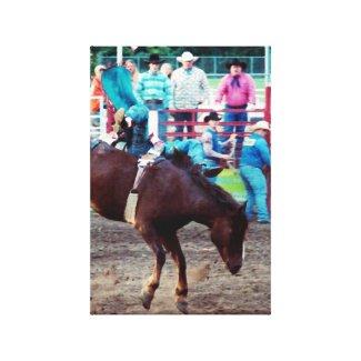 Horse 1, Cowboy 0 wrappedcanvas