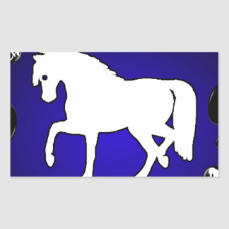 HORSE 1 CUSTOMIZABLE PRODUCTS RECTANGLE STICKER