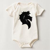Horse 1Z Baby Bodysuit