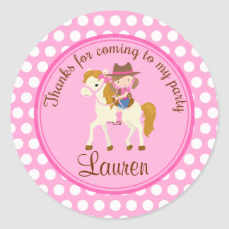 Horse 2inch round personalized favor tag