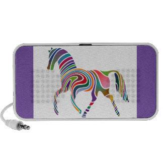 horse-37250 CARTOON horse rainbow colors colorful iPhone Speaker