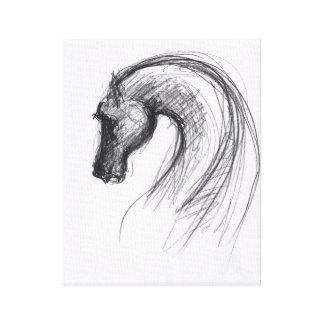 Horse #6 by PB Chinese Horse Year - Canvas Print