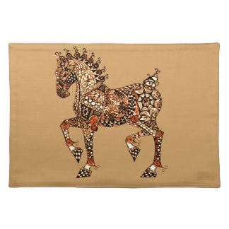 Horse 9 cloth placemat