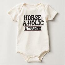 Horse-A-Holic In Training Infant Organic Creeper