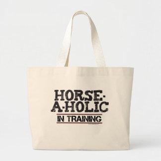 Horse-A-Holic In Training Jumbo Tote