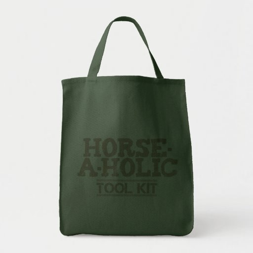 Horse-a-Holic Tool Kit 2 Grocery Tote Grocery Tote Bag