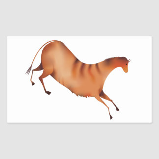 Horse a la Altamira Rectangular Sticker