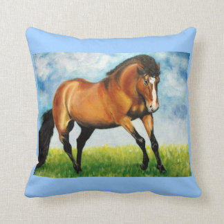 Horse Acrylic Painting Throw Pillow