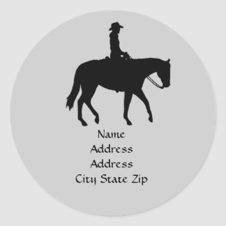 Horse Address Label Classic Round Sticker