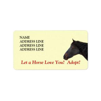 Horse Adoption - Western Return Address Label