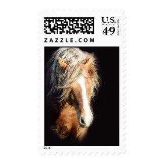 Horse Against Black Postage