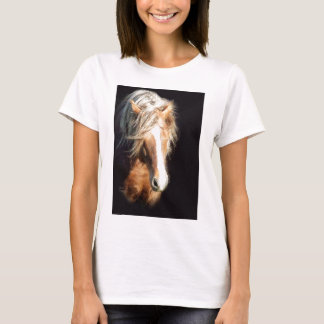 Horse Against Black T-Shirt