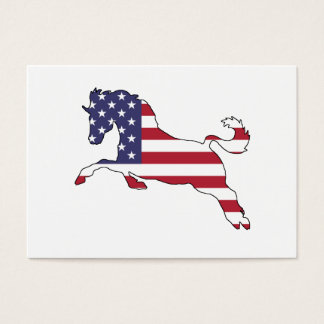 """Horse """"American Flag"""" Business Card"""