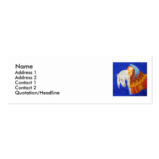 Horse and Angel Double-Sided Mini Business Cards (Pack Of 20)