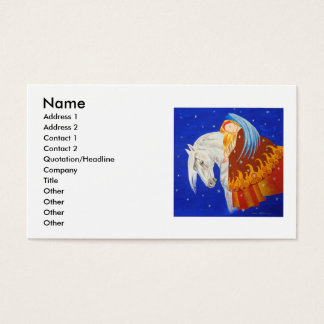 Horse and Angel Business Card
